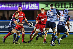 Cardiff Blues' Jarrod Evans in action - Mandatory by-line: Craig Thomas/Replay images - 31/12/2017 - RUGBY - Cardiff Arms Park - Cardiff , Wales - Blues v Scarlets - Guinness Pro 14