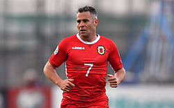 Gibraltar's Lee Casciaro during the UEFA Euro 2020 Qualifying, Group D match at the Victoria Stadium, Gibraltar.