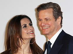 © Licensed to London News Pictures. 14/01/2015, UK. Livia Giuggioli, Colin Firth, Kingsman: The Secret Service - World Film Premiere, Leicester Square, London UK, 14 January 2015, Photo credit : Richard Goldschmidt/Piqtured/LNP