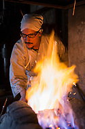 Yasha Yukawa, swordsmith in Hofu, Yamaguchi Prefekture, Japan <br /> Photographer: Christina Sjogren<br /> Copyright 2018, All Rights Reserved<br /> <br /> Yasha Yukawa, svärdsmed i Hofu, Yamaguchi Prefektur, Japan <br /> Fotograf: Christina Sjögren<br /> Copyright 2018, All Rights Reserved