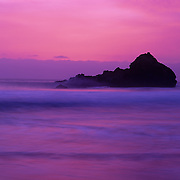 Stunning CA sunset in Pfeiffer State Park, Big Sur, CA.