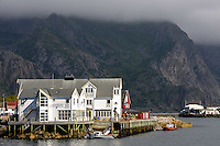 Norway, Lofoten. Henningsvær is a fishing village on the southern tip of Austvågøya.