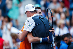 September 4, 2018 - Flushing Meadow, NY, U.S. - FLUSHING MEADOW, NY - SEPTEMBER 04: JUAN MARTIN DEL P305744O (ARG) and JOHN ISNER (USA) day nine of the 2018 US Open on September 04, 2018, at Billie Jean King National Tennis Center in Flushing Meadow, NY. (Photo by Chaz Niell/Icon Sportswire) (Credit Image: © Chaz Niell/Icon SMI via ZUMA Press)