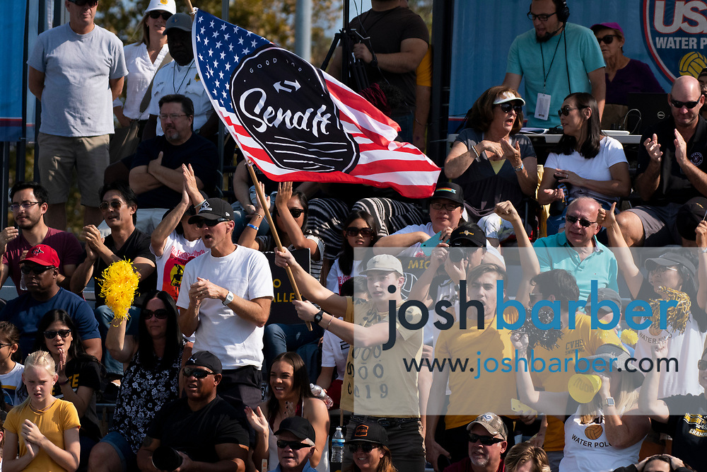 Capistrano Valley fans cheer during the CIF-SS Division 4 Final against Santa Monica at William Woollett Jr. Aquatic Center on Saturday, November 10, 2018 in Irvine, Calif. (Photo by Josh Barber, Contributing Photographer)