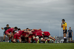 September 22, 2018 - Galway, Ireland - A scrum during the Guinness PRO14 match between Connacht Rugby and Scarlets at the Sportsground in Galway, Ireland on September 22, 2018  (Credit Image: © Andrew Surma/NurPhoto/ZUMA Press)