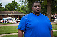 Gary Chambers, a community activist who is a leading voice for fighting for justice following Alton Sterlings killing, visiting the African American neighborhood of Glen Oaks, where most of the homes were flooded. He is doing what he can to help the black community recover encouraging African American's to support African American businesses.