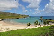 Anakena Beach, Easter Island (Rapa Nui), Chile<br />
