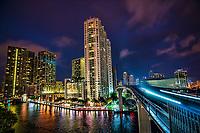 Miami - Metromover Riverwalk Station (Night)