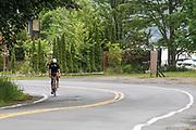 Male Competitor during the bike segment in the 2018 Hague Endurance Festival Triathlon