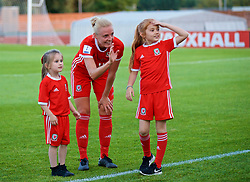 NEWPORT, WALES - Tuesday, June 12, 2018: Wales' captain Sophie Ingle celebrates after beating Russia 3-0 during the FIFA Women's World Cup 2019 Qualifying Round Group 1 match between Wales and Russia at Newport Stadium. (Pic by David Rawcliffe/Propaganda)