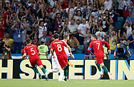 Cristiano Ronaldo of Portugal celebrates his goal during the 2018 FIFA World Cup Russia, Group B football match between Portugal and Spain on June 15, 2018 at Fisht Stadium in Sotschi, Russia - Photo Tarso Sarraf / FramePhoto / ProSportsImages / DPPI