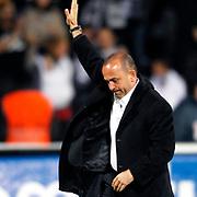 MP Antalyaspor's coach Mehmet Ozdilek during their Turkish superleague soccer match Besiktas between MP Antalyaspor at BJK Inonu Stadium in Istanbul Turkey on Monday, 15 April 2013. Photo by Aykut AKICI/TURKPIX