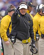 Missouri head coach Gary Pinkel during the first half at Bill Snyder Family Stadium in Manhattan, Kansas, November 19, 2005.  K-State defeated the Missouri Tigers 36-28.