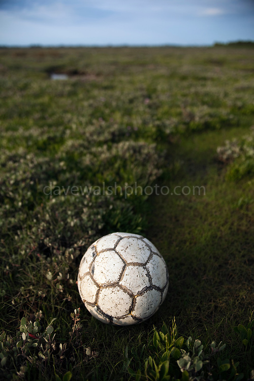 """Found football, Bull Island, Dublin. <br /> This mage can be licensed via Millennium Images. Contact me for more details, or email mail@milim.com For prints, contact me, or click """"add to cart"""" to some standard print options.<br /> <br /> Limited edition Giclée Prints available - contact me for more details."""