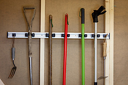 Tool hanger in shed