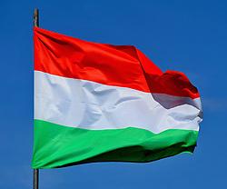 June 20, 2015 - Hustopece, Czech Republic - Hungarian flag, Hungary. (Credit Image: © Igor Zehl/CTK/ZUMAPRESS.com)
