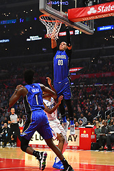 January 6, 2019 - Los Angeles, CA, U.S. - LOS ANGELES, CA - JANUARY 06: Orlando Magic Forward Aaron Gordon (00) goes up for a dunk during a NBA game between the Orlando Magic and the Los Angeles Clippers on January 6, 2019 at STAPLES Center in Los Angeles, CA. (Photo by Brian Rothmuller/Icon Sportswire) (Credit Image: © Brian Rothmuller/Icon SMI via ZUMA Press)