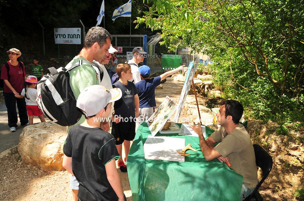 Israel, Western Galilee, Wadi Kziv Nature Reserve Israeli Nature Authority's (INA) information station