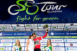 Luka Mezgec (SLO) of Mitchelton - Scott and Mojca Novak of Adria Mobil celebrates at trophy ceremony after 3rd Stage of 26th Tour of Slovenia 2019 cycling race between Zalec and Idrija (169,8 km), on June 21, 2019 in Slovenia. Photo by Matic Klansek Velej / Sportida