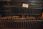 Wine bottles at Bodegas Muga winery, Haro. (Gran Gran reserva magnums, 1989.) La Rioja, Spain.