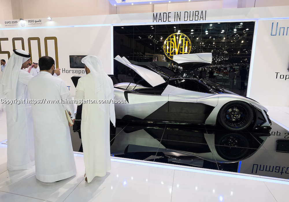 Devel prototype supercar at the Dubai Motor Show 2013 United Arab Emirates