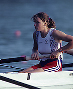 Barcelona, SPAIN.   GBR W4-. Gillian LINDSAY, 1992 Olympic Rowing Regatta Lake Banyoles, Catalonia [Mandatory Credit Peter Spurrier/ Intersport Images] Last time Men's coxed pair raced at the Olympics