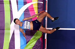 Authorised Neutral Athlete Mariya Lasitskene on her way to winning the Women's High Jump during day one of the 2018 IAAF Indoor World Championships at The Arena Birmingham, Birmingham.