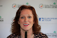 Sinead El Sibai Dubai Duty Free at the announcement of platers Kaymer, Donald and Reed to play the Dubai Duty Free Irish Open at Royal Co Down Golf Club, Newcastle, Co Down, Northern Ireland.<br /> Picture: Fran Caffrey / Golffile