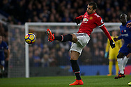 Henrikh Mikataryan of Manchester United in action. Premier league match, Chelsea v Manchester United at Stamford Bridge in London on Sunday 5th November 2017.<br /> pic by Kieran Clarke, Andrew Orchard sports photography.
