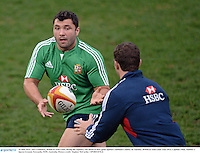 10 June 2013; Alex Corbisiero, British & Irish Lions, during the captain's run ahead of their game against Combined Country on Tuesday. British & Irish Lions Tour 2013, Captain's Run, Number 2 Sports Ground, Newcastle, NSW, Australia. Picture credit: Stephen McCarthy / SPORTSFILE