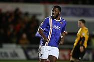 Troy Archibald-Henville of Exeter City looks on. EFL Skybet football league two match, Newport county v Exeter City  at Rodney Parade in Newport, South Wales on New Years Day, Monday 1st January 2018.<br /> pic by Andrew Orchard,  Andrew Orchard sports photography.