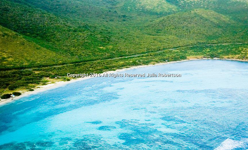 AErial view of shore line in St. Croix USVI