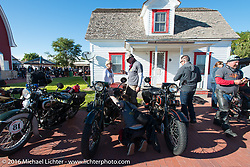 Old Town Museum in Burlington, Colorado for the hosted dinner stop during Stage 8 of the Motorcycle Cannonball Cross-Country Endurance Run, which on this day ran from Junction City, KS to Burlington, CO., USA. Saturday, September 13, 2014.  Photography ©2014 Michael Lichter.