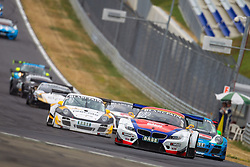 10.08.2013, Red Bull Ring, Spielberg, AUT, ADAC GT Masters, 1. Rennen, im Bild DB Motorsport, (#12, Simon Knap, NED und Jeroen den Boer, NED), Callaway Competion, (#3, Andreas Wirth, GER und Christian Hohlnadel, GER) // during the ADAC GT Masters 1st race day at the Red Bull Ring in Spielberg on August 10th 2013, EXPA Pictures © 2013, PhotoCredit: EXPA/ Mario Kuhnke