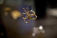 """A pin on display at former US Secretary of State, Madeline Albright's opening reception of her exhibit and book release, """"Read MY Pins: StoriesFrom A Diplomat's Jewel Box"""", at the Museum of Art and Design Columbus Circle in New York. (Photo by Robert Caplin)"""