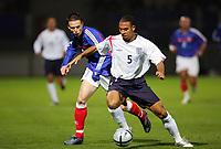 Fotball<br /> Foto: Dppi/Digitalsport<br /> NORWAY ONLY<br /> <br /> FOOTBALL - UNDER 21 UEFA EUROPEAN CHAMPIONSHIP 2004/2006 - 1/8 FINAL - 2ND LEG - FRANCE v ENGLAND - 15/11/2005 <br /> <br /> EM-KVALIFISERING U21 FRANKRIKE v ENGLAND<br /> <br /> ANTON FERDINAND (ENG) / ANTHONY LE TALLEC (FRA)