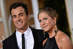 File photo - Jennifer Aniston and Justin Theroux arriving at the 72nd annual Golden Globe Awards held at the Beverly Hilton in Beverly Hills, Los Angeles, CA, USA, January 11, 2015. Photo By Lionel Hahn/ABACAPRESS.COM