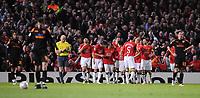 Fotball<br /> Italia<br /> Foto: Inside/Digitalsport<br /> NORWAY ONLY<br /> <br /> Carlos Tevez (Manchester) celebrates scoring<br /> <br /> 10.04.2008<br /> Champions League Quarter finals<br /> Manchester United v AS Roma (1-0)