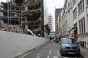 Demolition and construction site in Blackfriars in London, England, United Kingdom.