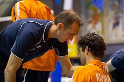 12-09-2010 VOLLEYBAL: EK KWALIFICATIE NEDERLAND - ESTLAND: ROTTERDAM<br /> Peter Blange (L) en Niels Klapwijk zijn teleurgesteld na het verliezen van de wedstrijd<br /> ©2010-WWW.FOTOHOOGENDOORN.NL / Peter Schalk
