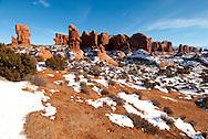 Garden of Eden, Arches National Park, Utah, winter.
