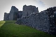 Carreg Cennen Castle, Trapp, Brecon Beacons, Powys, UK. The castle is dated back to the 13th century, although there is archeological evidence of Roman and prehistoric occupation on the site. The castle has been in a ruinous state since 1462 and is under the care of Cadw, the Welsh Government historic environment service. (photo by Andrew Aitchison / In pictures via Getty Images)