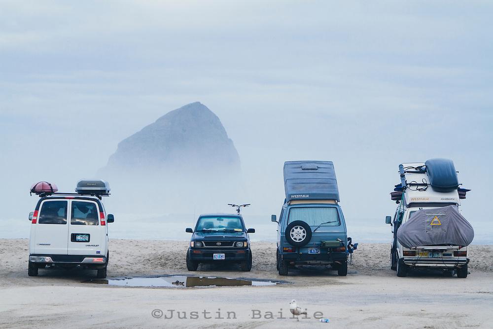 Van life. Pacific City, Oregon.