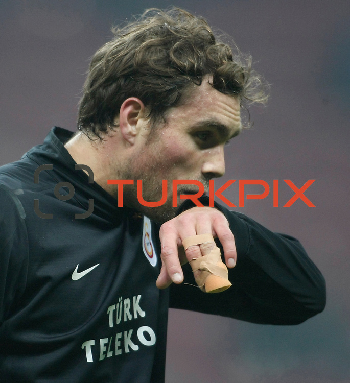 Galatasaray's Johan Elmander during their Turkish Super League soccer match Galatasaray between IBBSpor at the TT Arena at Seyrantepe in Istanbul Turkey on Tuesday, 03 January 2012. Photo by TURKPIX