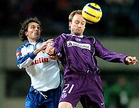 ◊Copyright:<br />GEPA pictures<br />◊Photographer:<br />Helmut Fohringer<br />◊Name:<br />Rushfeldt<br />◊Rubric:<br />Sport<br />◊Type:<br />Fussball<br />◊Event:<br />UEFA Cup, Austria Magna Wien vs Real Saragossa<br />◊Site:<br />Wien, Austria<br />◊Date:<br />10/03/05<br />◊Description:<br />Augustin Aranzabal (Saragossa), Sigurd Rushfeldt (A.Wien)<br />◊Archive:<br />DCSFH-100305501<br />◊RegDate:<br />10.03.2005<br />◊Note:<br />9 MB - MP/SU - Nutzungshinweis: Es gelten unsere Allgemeinen Geschaeftsbedingungen (AGB) bzw. Sondervereinbarungen in schriftlicher Form. Die AGB finden Sie auf www.GEPA-pictures.com.<br />Use of picture only according to written agreements or to our business terms as shown on our website www.GEPA-pictures.com