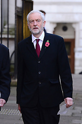 Labour Leader Jeremy Corbyn beim Remembrance Sunday in London / 131116 *** Remembrance Sunday, London, 13 Nov 2016 ***