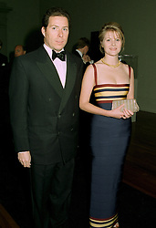 VISCOUNT & VISCOUNTESS LINLEY at a dinner in London on 1st July 1997.<br /> LZW 77