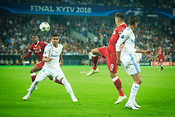 Roberto Firmino of Liverpool vs Cristiano Ronaldo of Real Madrid during the UEFA Champions League final football match between Liverpool and Real Madrid at the Olympic Stadium in Kiev, Ukraine on May 26, 2018.Photo by Sandi Fiser / Sportida