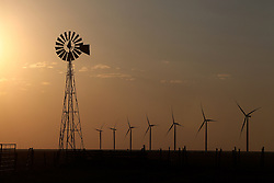 Windmills in Vega, Texas