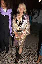 ANITA PALLENBERG at a gala dinner in the presence of HM Quenn Silvia of Sweden and HM Queen Noor of Jordan in aid of the charity Mentor held at the Natural History Museum, Cromwell Road, London on 23rd May 2006.<br />